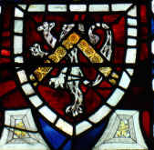 Arms of Hardres in the East window